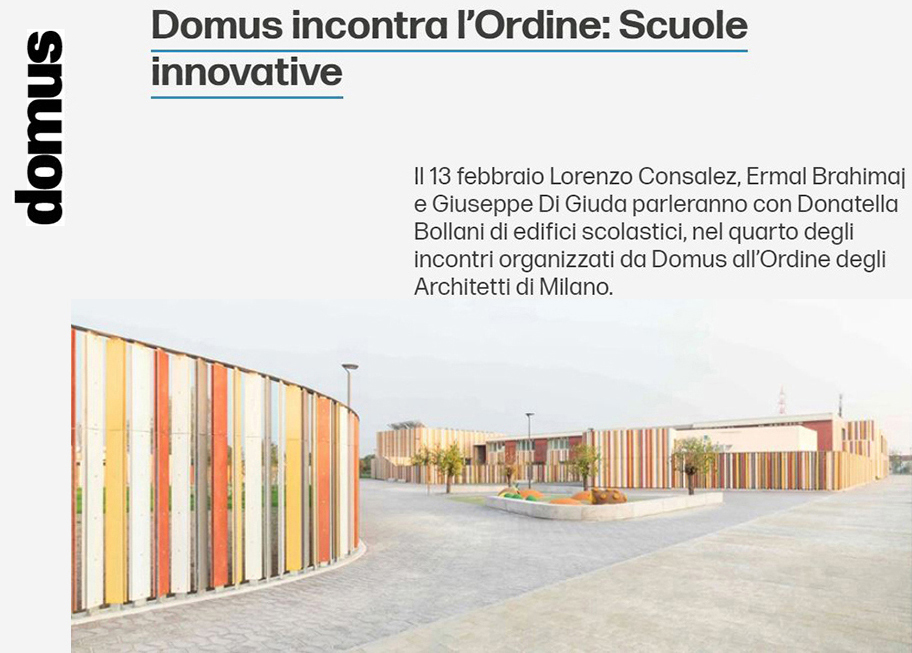 Domus incontra l'Ordine - Scuole Innovative